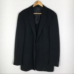 Giorgio Armani Black 100% Pure Wool Blazer